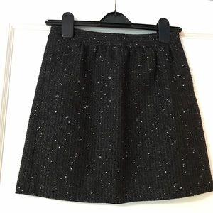 LOFT Tweed Skirt w Metallic Accent